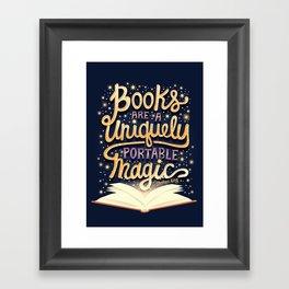 Books are magic Framed Art Print