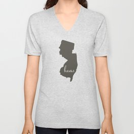 New Jersey is Home Unisex V-Neck