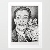 dali Art Prints featuring Dali by Alice Macarova
