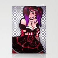 eugenia loli Stationery Cards featuring Loli loli by clayscence