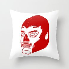 Red Luchador Throw Pillow