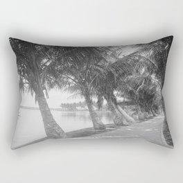 Vintage Palm Tree Beach Trail Photograph (1900) Rectangular Pillow