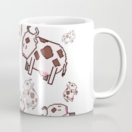 Pixel art cows Coffee Mug