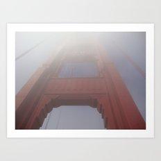 Fog on the Golden Gate Bridge Art Print