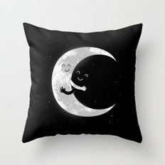 Moon Hug Throw Pillow