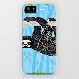 The Sloth and The Hummingbird iPhone Case