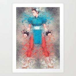 Street Fighter 2 - Chung Le Art Print