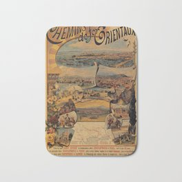 Oriental railways to Constantinople Bath Mat