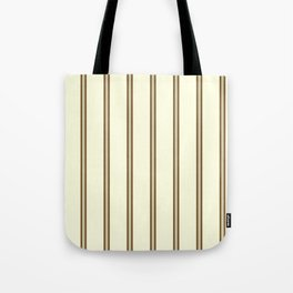Cream and Brown Stripes Tote Bag