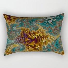 Marigold Garden - Fractal Art Rectangular Pillow
