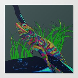 Colorful Lizard Canvas Print