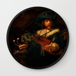 Steampunk Rembrandt - The Night Watch Wall Clock