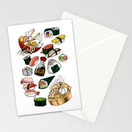 Sushi White Stationery Cards
