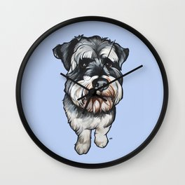 Barney the Miniature Schnauzer Wall Clock