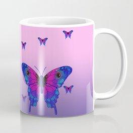 Butterfly Phone Pouch Design Purple Coffee Mug