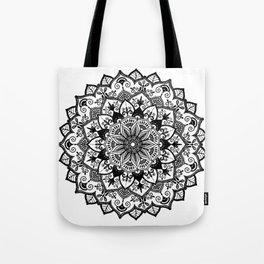 Mandala in black Tote Bag