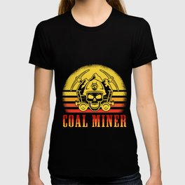 Coal Miner Retro Funny Mining Mine Worker Gifts graphic T-shirt