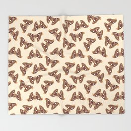 Atlas moth Throw Blanket