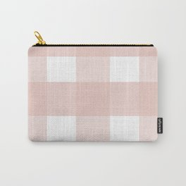 Pink checkered pattern Carry-All Pouch