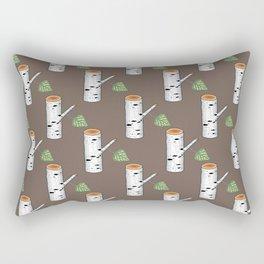 birch billets pattern Rectangular Pillow
