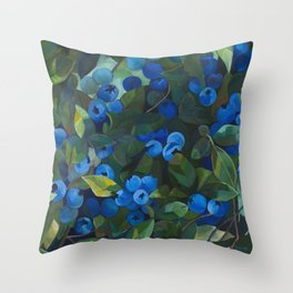 A Blueberry View Throw Pillow