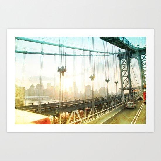 New York Rising _ manhattan bridge Art Print