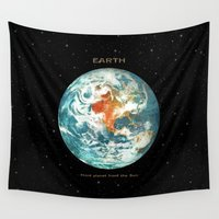 middle earth Wall Tapestries featuring Earth by Terry Fan