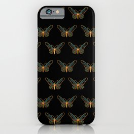 Jewelled Butterfly on black iPhone Case