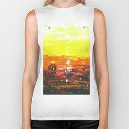 Beautiful Sunset by Australian Artist Vidy Potdar Biker Tank