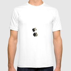 Dice White Mens Fitted Tee MEDIUM