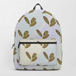 Very stylish hand drawn retro botanical interior and textile design pattern on canvas Backpack