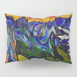 African American Masterpiece 'Midnight Sun, Norway' by William Henry Johnson Pillow Sham