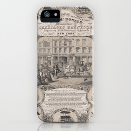 Wm. L. McDonald, Manufacturers of Carriage Harness & Co. Repository, No. 26 Beekman & 18 Spruce Stre iPhone Case