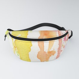 Rainbow Watercolor Texture Pattern Abstract Fanny Pack