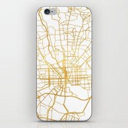 BALTIMORE MARYLAND CITY STREET MAP ART iPhone Skin