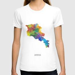 Armenia Watercolor Map T-shirt
