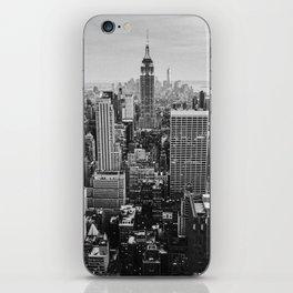 Black & White NYC Skyline iPhone Skin