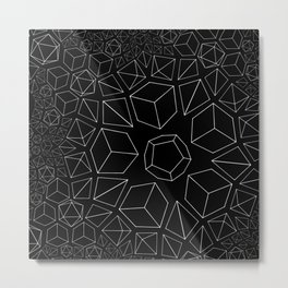 Platonic Tesselations Metal Print