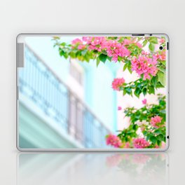 Colonial Havana Architecture with Pink Bougainvillea Laptop & iPad Skin