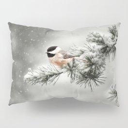Winter Chickadee Pillow Sham