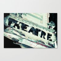 theatre Canvas Prints featuring Theatre by Photography by Chelsea Lynn Bulik