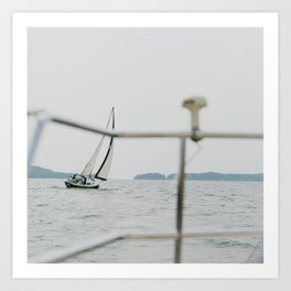 Sailing with Company Art Print