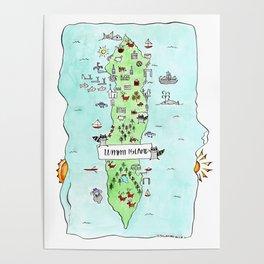 Lummi Island Map Poster