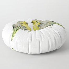 Little Yellow Birds Floor Pillow