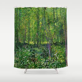 Vincent Van Gogh Trees and Undergrowth 1887 Shower Curtain