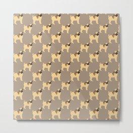 Pug Art Metal Print