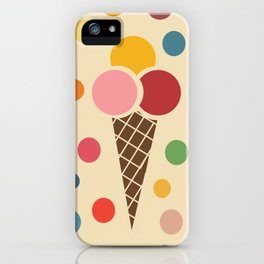 sweet summer ice cream iPhone Case