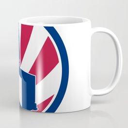 American Logistics USA Flag Icon Coffee Mug