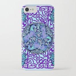 7 Blue Celtic Horses iPhone Case