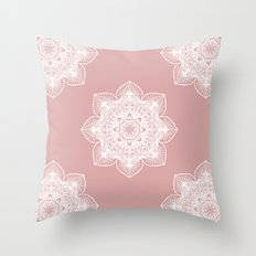 Pink Pastel Mandala Throw Pillow